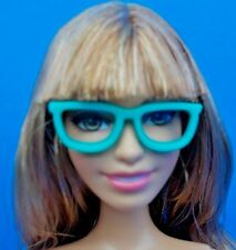 2017 Barbie Fashionistas Geek Chic Pack Teal Open Lens Glasses Accessory Only