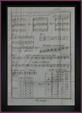Planche originale MUSICA ALCUNI ESEMPI IN CHIAVE ENCICLOPEDIA DEROT D'ALEMBERT