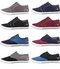 Mens Designer Voi Jeans Canvas Shoes Lace Up Pumps Trainers Plimsoles Footwear