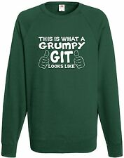 This Is What A Grumpy Git Looks Like Funny Sweatshirt Comedy Old Man Joke Jumper
