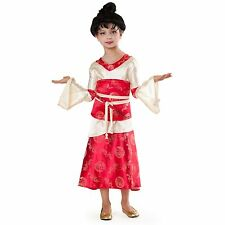 Girls KIMONO PRINCESS PARADISE Costume Dragon Dress Obi Chopstick Child Medium 8