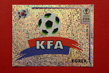PANINI KOREA JAPAN 2002 # 242 KOREA BADGE WITH BLACK BACK MINT!!!