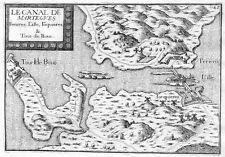 Antique map, Le canal de Martegues, Ferieres, l'Ille, Jonquieres & Tour de Bouc