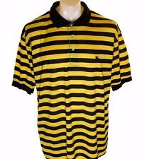 Bnwt Mens Authentic Burberrys Of London Polo Shirt Xlarge New Navy & Yellow