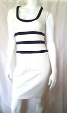 NWT Cache Black and Ivory White THICK Stretch Dress S 4