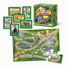 African Adventure Bilingual Animals Board Game Puzzle Critical Thinking Memory