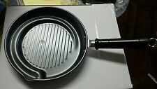 KITCHENRITE Non-Stick Ribbed Pans Cookware Set of 3 PourSpout Removable Handles