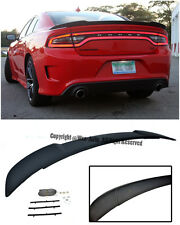 SRT Hellcat Style ABS Plastic Rear Trunk Lip Spoiler For 11-Up Dodge Charger