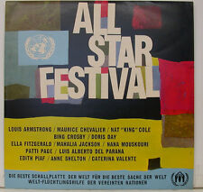 "ALL STAR FESTIVAL ARMSTRONG CHEVALIER COLE CROSBY DAY FITZGERALD 12"" LP (j411)"