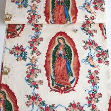 Alexander Henry Fabric Virgin Of Guadalupe Natural PER METRE Mary Icons Faithful
