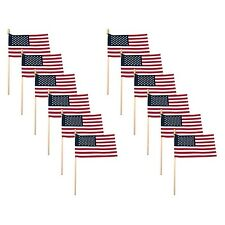 American Flag For Outside On Stick 4x6 Small USA Flag 12 Pack