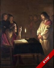 THE LORD JESUS CHRIST BROUGHT BEFORE HIGH PRIEST PAINTING BIBLE ART CANVAS PRINT