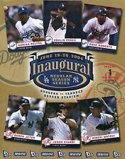 2004 Dodgers/Yankees inaugural flyer for first series at Dodger Stadium  #1