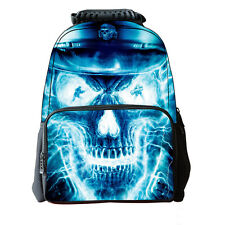 3D Skull School Bag Travel Hiking Outdoor Backpack Men Women Teen Shoulder O