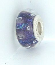2110-1262 CHAMILIA STERLING SILVER EFFERVESCENCE NOIR MURANO GLASS BEAD NEW