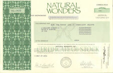 Natural Wonders   specialty gift store   California stock certificate share