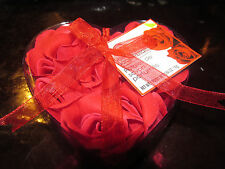 Body Luxuries Rose Shaped Scented Soap Petals Set of 9 Heart Shaped Box with Red