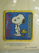 Vintage 1965 Snoopy Woodstock Peanuts United Feature Square Woven Sew On Patch