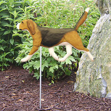 Beagle Outdoor Garden Dog Sign Hand Painted Figure Tri