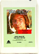 BARRY MANILOW This One's For You  8 TRACK TAPE  CARTRIDGE