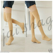 Solid Color Women Lady Girl Thigh High Stockings Over Knee (1 Skin Stockings)