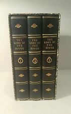Lord of the rings trilogy. J.R.R.Tolkien. Finely bound set.