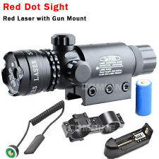 tactique rechargeable Red Dot Laser vue canon de fusil portée Rail & Barrel Mont