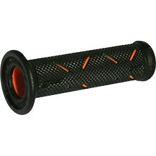 Pro Grip 717 Superbike Soft Motorcycle Handlebar Grips Black / Orange 0630-0218