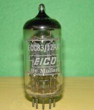 """Eico Mullard 12AX7 ECC83  Vacuum Tube 1958 Balanced """"f92 B8A"""" Results 1120/1130"""