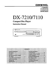 Onkyo DX-7210 CD Player Owners Manual