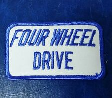 VINTAGE FOUR WHEEL DRIVE 4X4 TRUCK PATCH