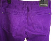 Express Rocco Skinny Slim Leg Purple Colored Jeans Sz 32