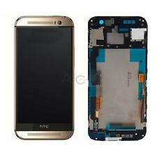 LCD Display + Touch Screen Digitizer + Frame Assembly for HTC One M8 831C Gold
