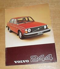 Volvo 244 Double Sided Brochure / Flyer 1977