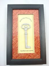 Wall Shadow Box Picture frame silver Vintage Key one door closes another Opens