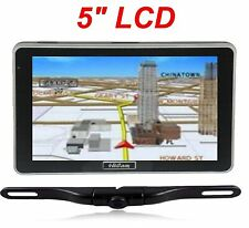 "5"" GPS Navigator bluetooth FM wireless backup camera SUV Van truck touch LCD NEW"