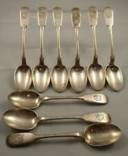 RUSSIAN IMPERIAL  9 SILVER  TEA SPOON ,SHERSON ( ХЕРСОН),  LAST QUATER OF 19 C.