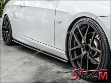 Carbon Fiber Extension Side Skirts Add On Lip For BMW E92 E93 w/ M Sports