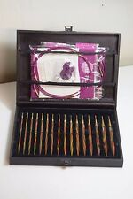 Deluxe boxed set of gold plated interchangeable circular knitting needles