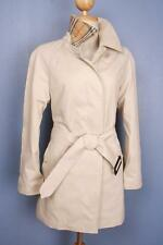 Womens BURBERRY Bespoke SHORT Trench Coat Mac Beige 8/10 Small BEAUTIFUL