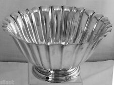 HANDSOME International Sterling Silver FLUTED, LARGE BOWL, Mono