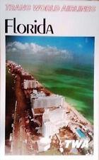 TWA FLORIDA MIAMI BEACH 1965 Vintage Travel poster 25x40 AIRLINES No Repro