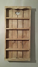 WOODEN RUSTIC COTTAGE SPICE RACK  5 TIER  - STORAGE - WALL - SHELVING - KITCHEN