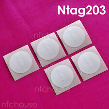 5 pcs Ntag203 nfc Tag NTAG 203 nfc tag Coated white nfc tags stickers