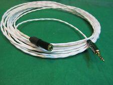 "20 Ft SILVER PLATED 3.55 MM 1/8"" AUDIOPHILE HEADPHONE EXTENSION CABLE."