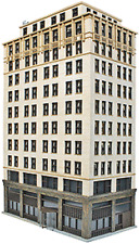 HO Ashmore Hotel Building Kit - Walthers Cornerstone #933-3764