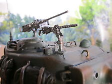 WWII Sherman Fury Torre MG cal 30mm RC Carro armato Tank US Army METAL KIT ACCESSORI 1/16