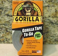 """1"""" x 30 Foot Roll - GORILLA TAPE Black Duct Tape - For the Toughest Jobs"""