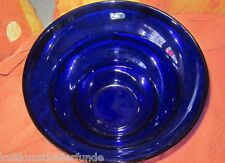nachtblaue glasschale von leonardo tolle große form obstschale
