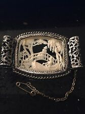 Antique Rare 1920's French Art Deco Ornate Celluloid Diorama Brooch/Pin
